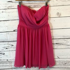 Lily Boutique Strapless Pink Dress Size M